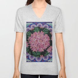 Pretty pink Pimelea flowers Unisex V-Neck