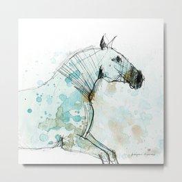 Horse (Lusitano Blue) Metal Print