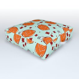 Super Canadian Maple Syrup Pattern Outdoor Floor Cushion