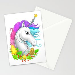 Xmas Unicorn Stationery Cards