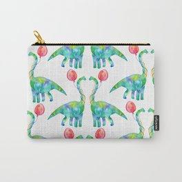 brachiosaurus and balloon pattern Carry-All Pouch