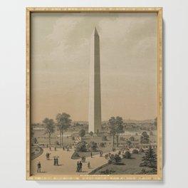 Vintage Washington Monument Illustration (1886) Serving Tray
