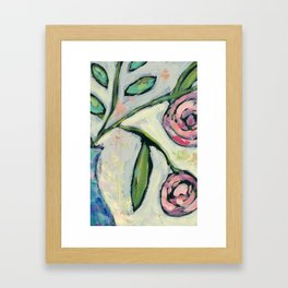 'Rosie' Contemporary Floral Framed Art Print