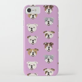 English Bulldog faces cute dog art pet portrait must have gifts for english bulldog owners iPhone Case