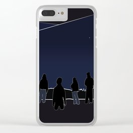 Silhouettes in the Snow Clear iPhone Case