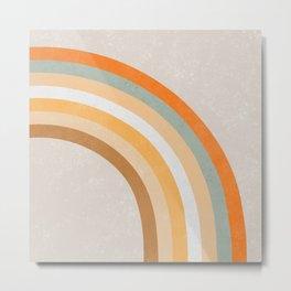 Retro Rainbow 70s colors #art print#society6 Metal Print