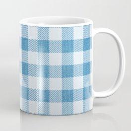 Blue Gingham Denim Country Pattern Coffee Mug
