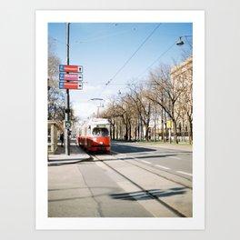 Vienna's Tram Art Print