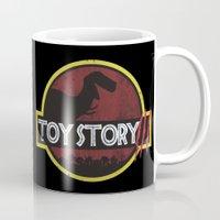 jurassic park Mugs featuring toy story / jurassic park by tshirtsz