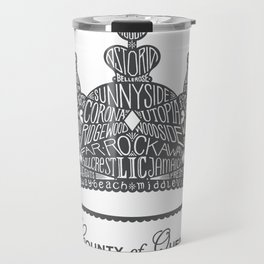 County of Queens | NYC Borough Crown (GREY) Travel Mug