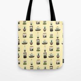 Terrarium pattern (yellow) Tote Bag