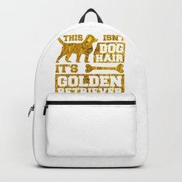 Dog Lover It's Not Dog Hair It is Golden Retriever Glitter Gold Backpack
