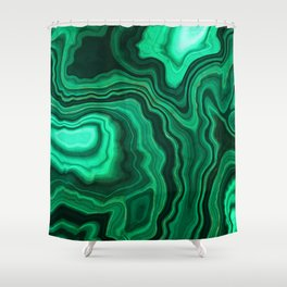 Emerald Marble Shower Curtain