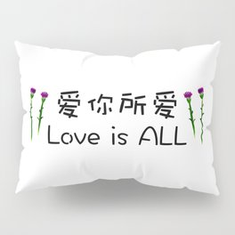 Fan's painting pattern design-Love is ALL 爱你所爱 Pillow Sham
