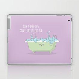 Rub A Dub Dub #kawaii #tub Laptop & iPad Skin