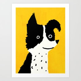Brodie: The Border Collie Art Print