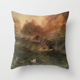 Monsalvat - Castle of the Holy Grail Throw Pillow
