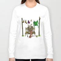 sheep Long Sleeve T-shirts featuring Sheep by Anna Shell