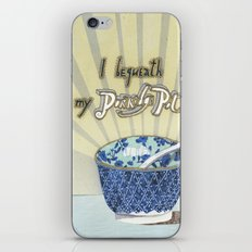 I bequeath my porridge pot iPhone & iPod Skin