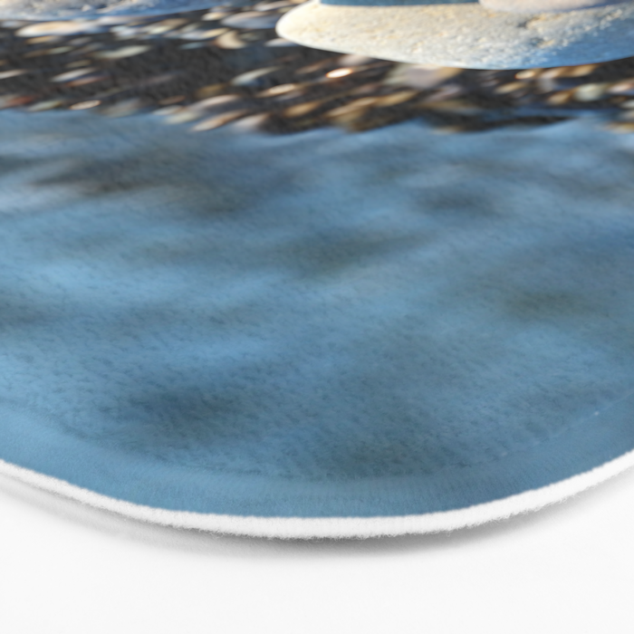 Stones and shell. Sea Composition Bath Mat
