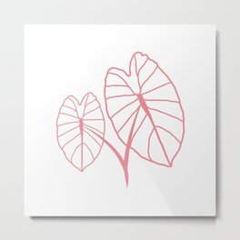Lo'i Love Pink on Peach Metal Print