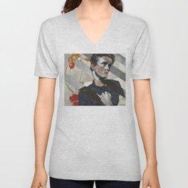 """Egon Schiele's """"Self Portrait with Physalis"""" and James D. Unisex V-Neck"""