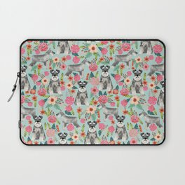 Schnauzer floral must have dog breed gifts for schnauzers owners florals Laptop Sleeve