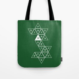 Green Unrolled D20 Tote Bag