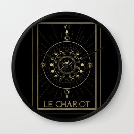 Le Chariot or The Chariot Tarot Wall Clock