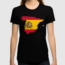 Spain Map with Spanish Flag T-shirt