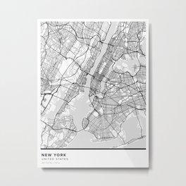 New York Pantone Map Metal Print
