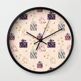 Festive design. Gifts . Wall Clock