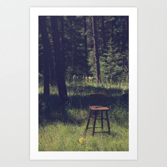 Sitting Elsewhere Art Print