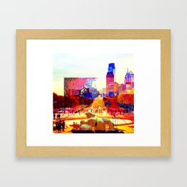 Girl in Transit, Philadelphia Framed Art Print