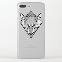 Scrappy (B&W) Clear iPhone Case