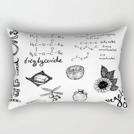 Fats & Oils - Food & Chemistry [Doodle & Handlettering] Rectangular Pillow