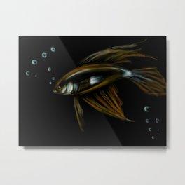 18- Shiny Fish & bubbles Metal Print