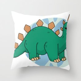 Steg-o-sor-us Throw Pillow