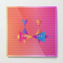 Music in Monogeometry : Fleet Foxes Metal Print