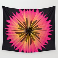 arya Wall Tapestries featuring Graphic Flower by Hinal Arya