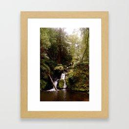 Cataract Creek Falls Upright Framed Art Print