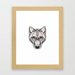 Edges (Wolf) Framed Art Print
