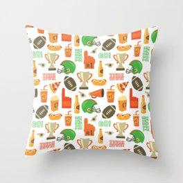 American Football pattern Throw Pillow