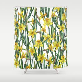 Spring's fragrances. Narcissuses. Shower Curtain