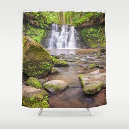 Goit Stock Waterfall Shower Curtain