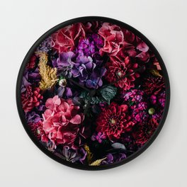 FLOWERS - FLORAL - GARDEN Wall Clock