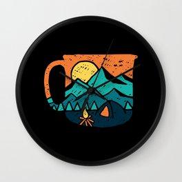 Coffee and Adventure Wall Clock