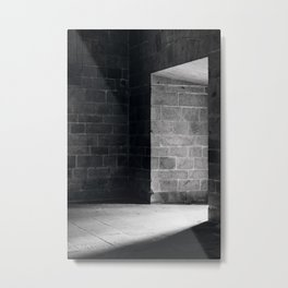 Scary view of hollow Metal Print