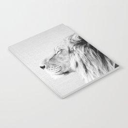 Lion Portrait - Black & White Notebook