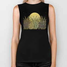 """Golden aloe Zebra midnight sun"" Biker Tank"